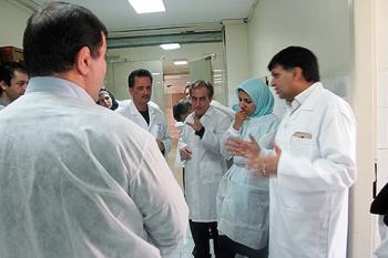 بازدید شبکه ایمنی نانو و کمیته فناوری نانو سازمان دامپزشکی از مرکز ملی تشخیص، آزمایشگاههای مرجع و مطالعات کاربردی