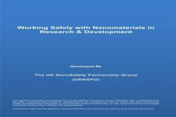 دستورالعمل جدیدی برای کار ایمن با نانومواد منتشر شد
